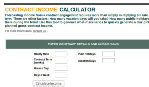 Contract Income Calclulator screen image